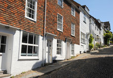 Tile fronted English homes. Rye West Sussex. Stock Photos