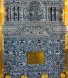 Tile furnace in Catherine Palace Stock Photography
