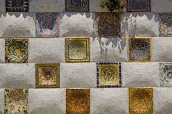 Tile by Gaudi Parc Guell Barcelona Royalty Free Stock Image