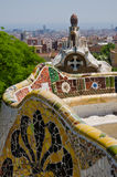 Tile by Gaudi Parc Guell Barcelona Royalty Free Stock Photography