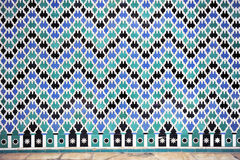 Tile glazed background, Alcazar palace in Sevilla, Spain Royalty Free Stock Photos