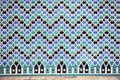 Tile glazed background, Alcazar palace in Sevilla, Spain Royalty Free Stock Photos