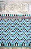 Tile glazed background, Alcazar palace in Sevilla, Spain Stock Photography