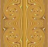 Tile with gold whirl motif Stock Image