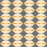 Tile grey, black and orange vector pattern with geometric background Stock Photos