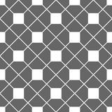 Tile grey and white vector pattern Royalty Free Stock Photos