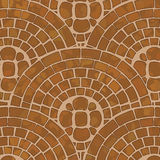 Tile ground. It is a texture of brown tile ground with mosaic pattern Stock Photos