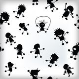 Tile with happy children pattern Royalty Free Stock Photography