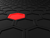Tile from hexagons Royalty Free Stock Image