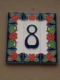 tile-house-number Stock Image