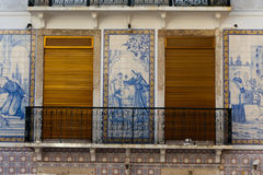 Tile House in Portugal Stock Images