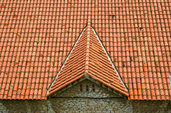 Tile house roof Royalty Free Stock Photos