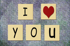 Tile With I Love You on Textured Background Stock Photography
