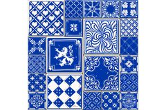 Tile illustration seamless mosaic decor vector Stock Images