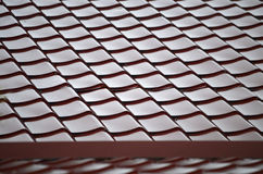 Tile. Iron tile. Red roof tile Stock Images