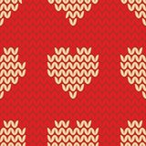 Tile knitting vector pattern Royalty Free Stock Photos
