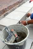 Tile laying Stock Image