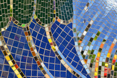 Tile and mirror Mosaics texture background Royalty Free Stock Image