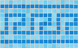 Tile mosaic. Blue tile wave mosaic royalty free stock photo
