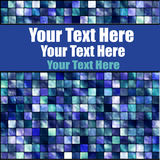 Tile Mosaic And Banner Royalty Free Stock Photography