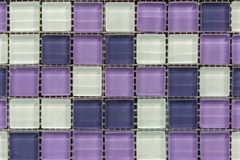 Tile mosaic design background pattern. abstract purple square pixel mosaic wall background and texture.  stock photo