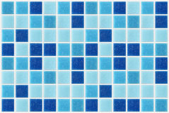 Tile mosaic square blue texture background decorated with glitte royalty free stock photos
