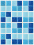 Tile mosaic square blue texture background decorated with glitter Royalty Free Stock Images