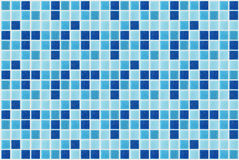 Tile mosaic square blue texture background decorated with glitter stock photo