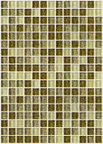 Tile mosaic square decorated with glitter golden texture backgro Stock Photos