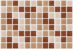 Tile mosaic square decorated with glitter red pink texture backg Stock Image