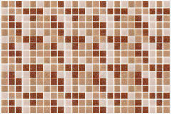 Tile mosaic square decorated with glitter red pink texture backg Stock Photo