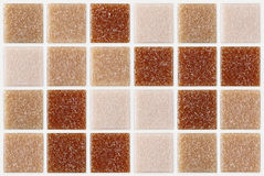 Tile mosaic square decorated with glitter red pink texture background Stock Photography