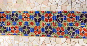 Tile mosaic wall Royalty Free Stock Image