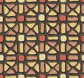 Tile mosaic yellow red Stock Photo