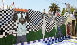 Tile Mural by Jose Fuster. Tile mural of the Cuban artist Jose Royalty Free Stock Photos