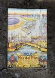 Tile mural, MOLO Mar del Plata in Marina Grande, fishing village in Sorrento, Italy Royalty Free Stock Images