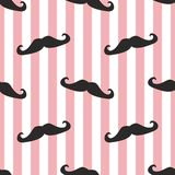 Tile  mustache and stripes pattern Stock Photography