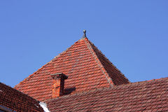 Tile. Old roof tile over blue sky Royalty Free Stock Photos