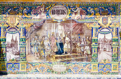 Tile Painting In Seville Royalty Free Stock Photos