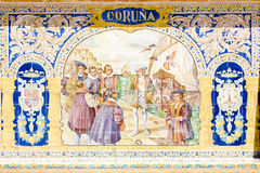 Tile painting, Seville Royalty Free Stock Photo