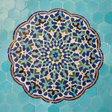 Tile panel, mosque, yazd, iran Stock Photos