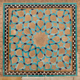 Tile panel, mosque, yazd, iran Royalty Free Stock Photo
