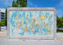 Tile panel of Roberto Matta Stock Photography