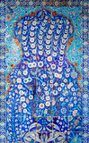Tile panel on wall of Rustem Pasa Mosque, Istanbul Stock Images