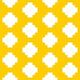 Tile pastel yellow and white vector pattern Royalty Free Stock Images