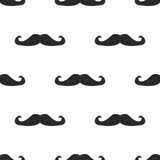 Tile  pattern with big mustache on white background Royalty Free Stock Image