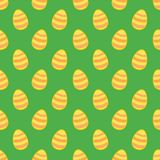 Tile vector pattern with easter eggs on green background Royalty Free Stock Image