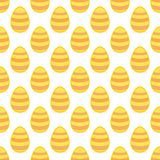 Tile vector pattern with easter eggs on white background Royalty Free Stock Image