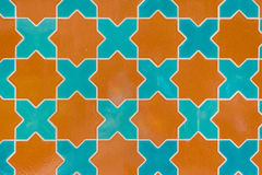 Tile pattern green blue Royalty Free Stock Photos