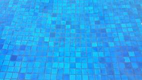 Tile pattern. Blue tile mosaic underneath swimming pool Stock Image